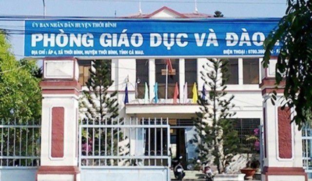Hiệu trưởng nhiều học trực thuộc Phòng Giáo dục huyện Thới Bình (tỉnh Cà Mau) bị kiểm điểm.