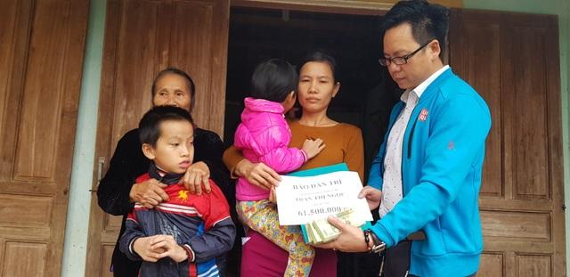 Bạn đọc giúp đỡ mẹ con chị Trần Thị Ngọc hơn 60 triệu đồng  - 1