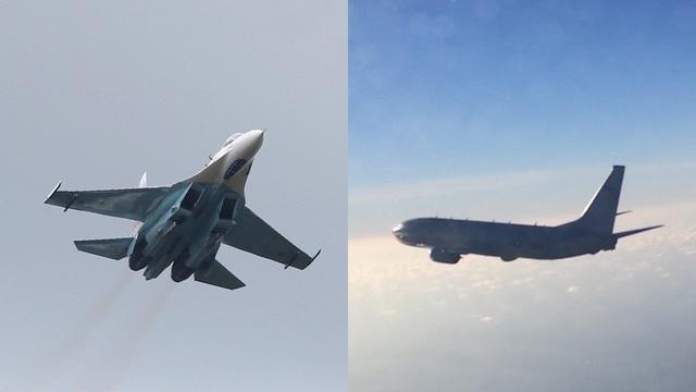 Khoảnh khắc chiến đấu cơ Nga chặn máy bay trinh sát Mỹ trên biển - 1