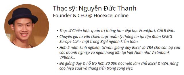 Từ ước mơ đến thành công của CEO đam mê Excel - 1