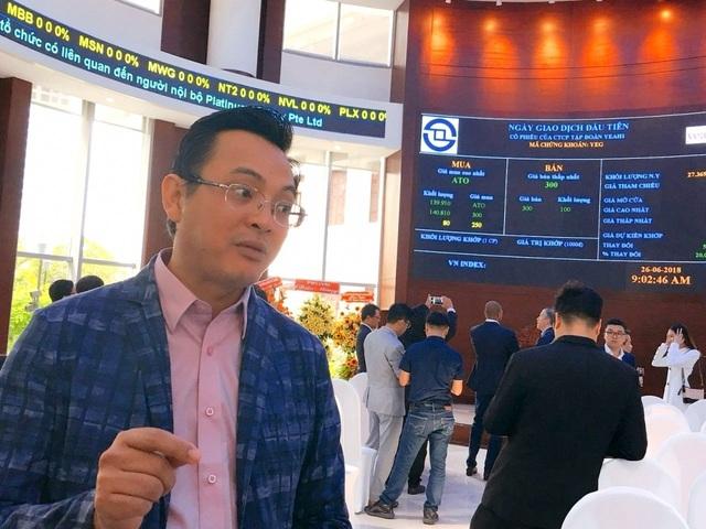 """Cổ phiếu bị bán tháo, đại gia Nhượng Tống tung """"tiền tỷ"""" ứng cứu - 1"""