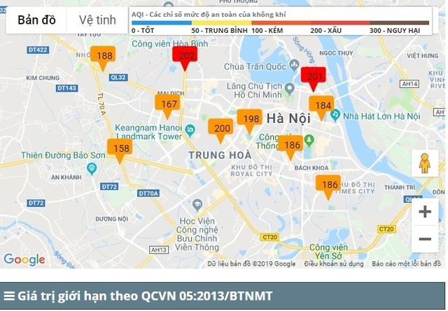 Hà Nội: Chỉ số ô nhiễm không khí ở mức có hại cho sức khoẻ - 1
