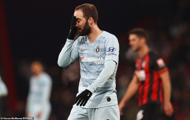 Bournemouth 4-0 Chelsea: Màn ra mắt tệ hại của Higuain 91944980-imagem-91548880314682-1548898241882