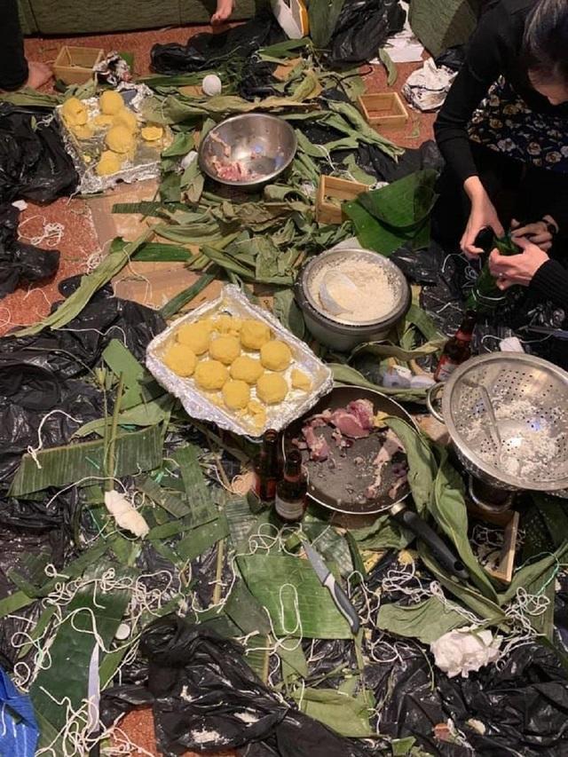 Du học sinh Việt tại Anh quây quần gói bánh chưng, đón Tết nguyên đán - 6
