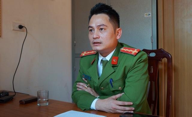 Đại úy Lê Công Long - Đội trưởng Đội điều tra tổng hợp (Công an huyện Đô Lương, Nghệ An).