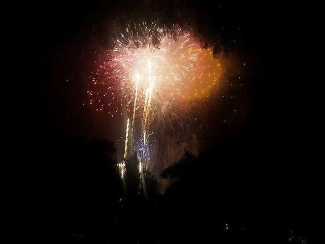 Người dân ùa ra đường xem pháo hoa chào đón năm mới - 3