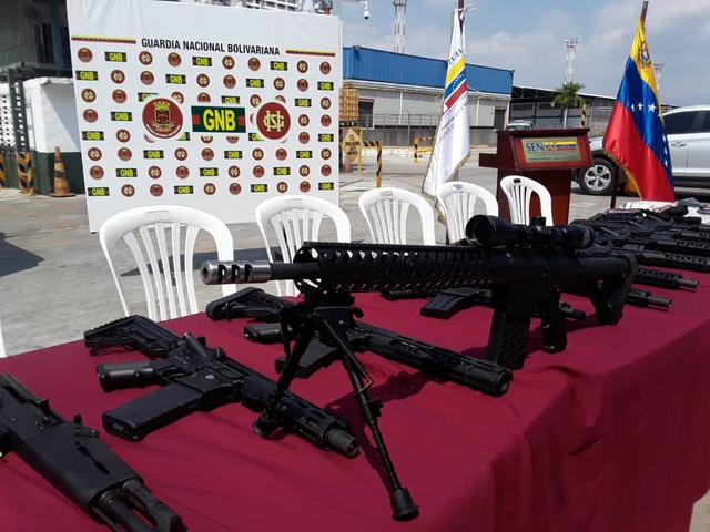 Venezuela tịch thu vũ khí nghi vận chuyển từ Mỹ
