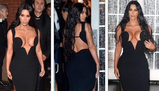 Kinh ngạc với váy hở bạo của chị em Kardashian - 3