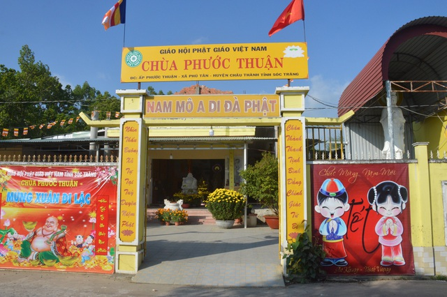 Chùa Phước Thuận tọa lạc huyện Châu Thành, tỉnh Sóc Trăng.