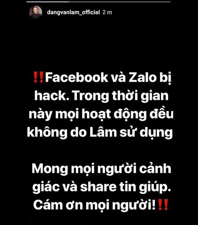 Thủ thành Lâm Tây bị hack Facebook, Instagram, để lộ thông tin nhạy cảm - 2