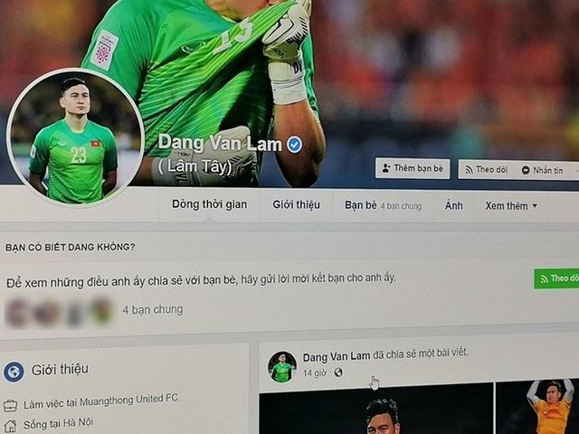 Thủ thành Lâm Tây bị hack Facebook, Instagram, để lộ thông tin nhạy cảm