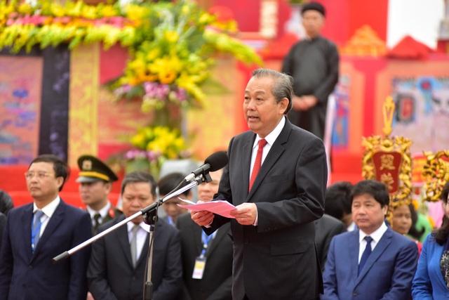 Phó Thủ tướng Trương Hòa Bình phát biểu tại Lễ hội Tịch điền Đọi Sơn 2019