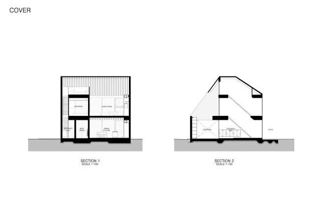 """Lạ mắt với ngôi nhà """"tốc mái"""" của kiến trúc sư Nhật Bản  - 2"""