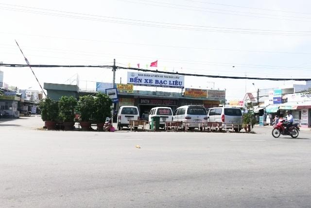 Bến xe tỉnh Bạc Liêu, nơi có nhiều nhà xe hoạt động kinh doanh vận tải.