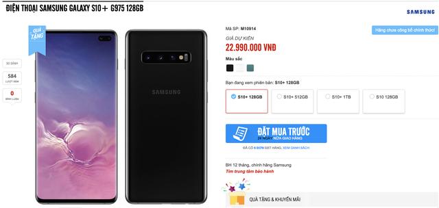Galaxy S10 chưa ra mắt, các nhà bán lẻ đã nhận đặt hàng, giá rẻ nhất 17 triệu đồng - 2