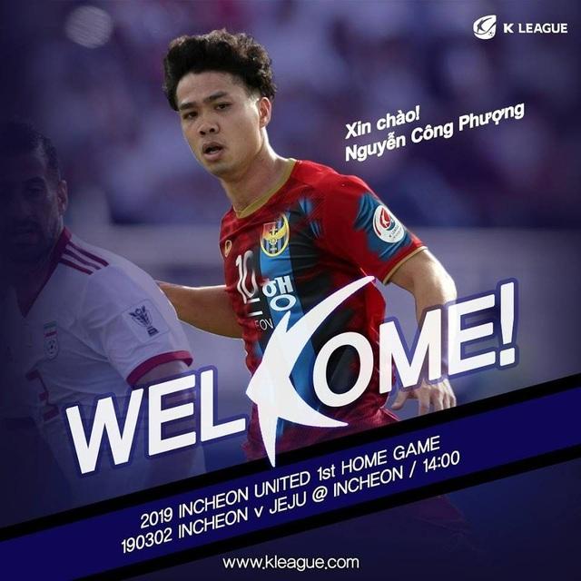 Trang chủ K-League chào đón Công Phượng bằng tiếng Việt