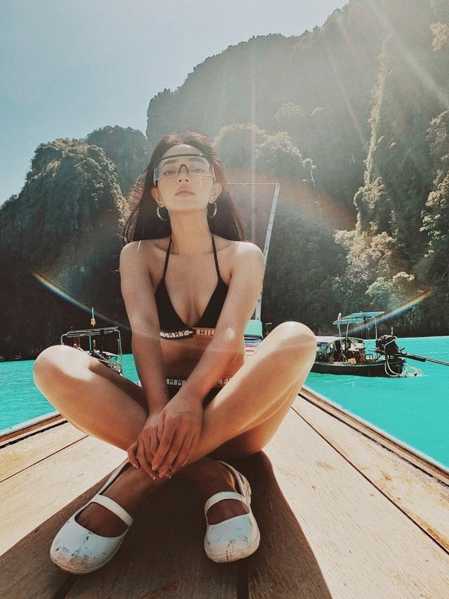 Trong khi bạn bè khoe áo dài, Châu Bùi chụp ảnh bikini đẹp nuột nà như trên tạp chí - 3