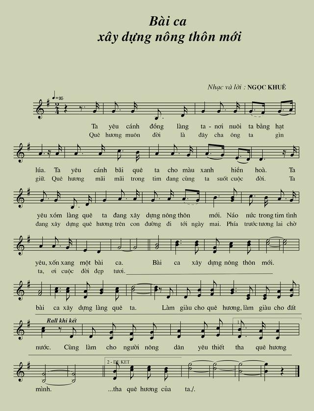Bài ca xây dựng nông thôn mới - Một bài hát hay - 2