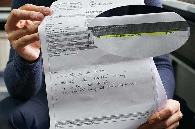 Mất 1,2 tỷ đồng mua Mercedes, khách ngã ngửa xe bị phù phép km - 4