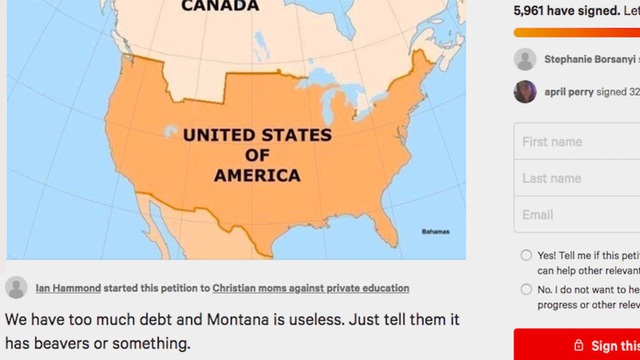 Nợ công tăng kỷ lục, hàng nghìn người Mỹ muốn bán bang Montana cho Canada - 1