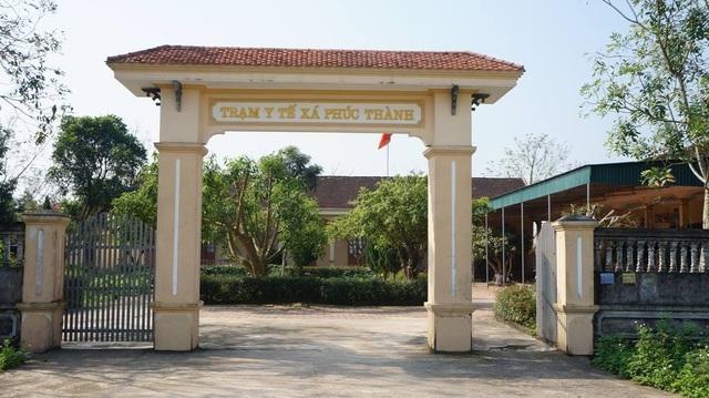 Trạm y tế xã Phúc thành nơi ông Phạm Hồng Lam  đang công tác.