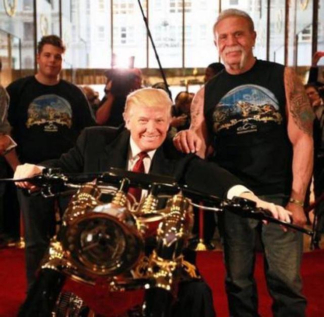 Hút mắt với chiếc chopper độ vàng 24k của Tổng thống Donald Trump - 3