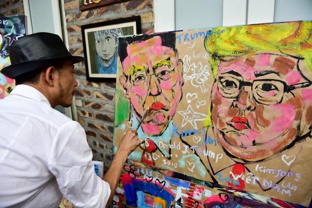 Gặp họa sĩ vẽ hơn 100 tranh chân dung TT Donald Trump và Chủ tịch Kim Jong-un - 8