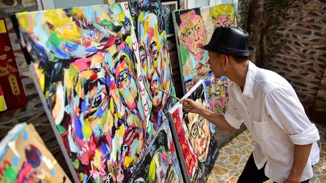 Gặp họa sĩ vẽ hơn 100 tranh chân dung TT Donald Trump và Chủ tịch Kim Jong-un - 5