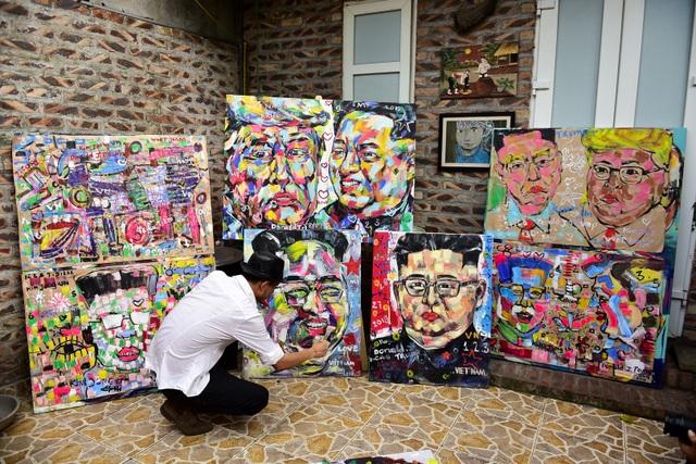 Gặp họa sĩ vẽ hơn 100 tranh chân dung TT Donald Trump và Chủ tịch Kim Jong-un - 10