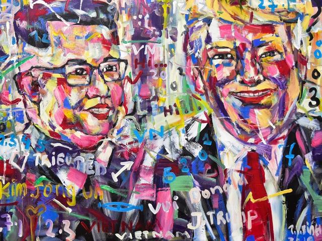 Gặp họa sĩ vẽ hơn 100 tranh chân dung TT Donald Trump và Chủ tịch Kim Jong-un - 7