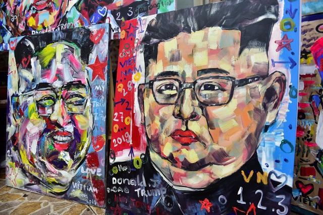 Gặp họa sĩ vẽ hơn 100 tranh chân dung TT Donald Trump và Chủ tịch Kim Jong-un - 11