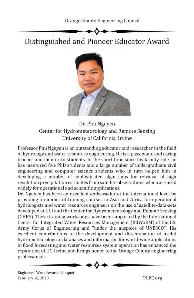 """Giáo sư Việt được Quận Cam vinh danh """"Nhà giáo dục xuất sắc và tiên phong năm 2019"""" - 2"""