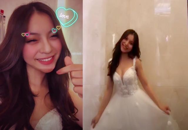 Bạn gái cầu thủ Quang Hải khoe thử váy cưới, làng bóng sắp có tin vui? - 2