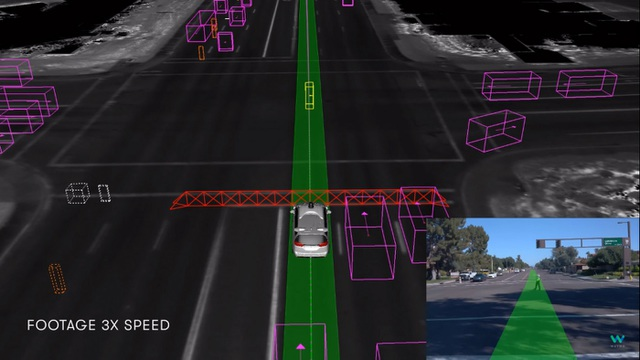 Xem xe tự lái chạy qua ngã tư hỏng đèn theo điều khiển của CSGT - 1