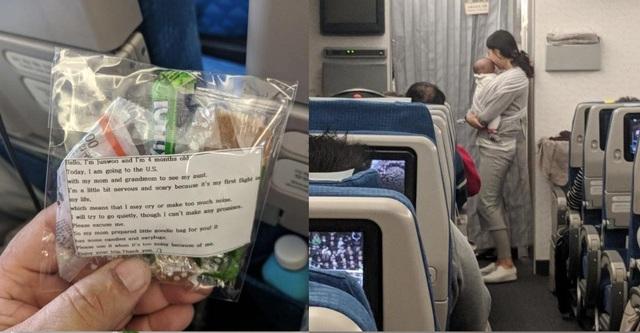 Trầm trồ cách cư xử văn minh trên chuyến bay của một người mẹ trẻ  - 1