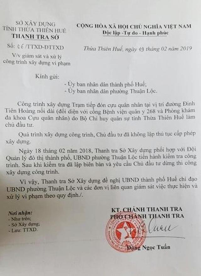 Bộ chỉ huy Quân sự tỉnh Thừa Thiên Huế xây nhà không phép ngay trong Kinh thành Huế! - 5