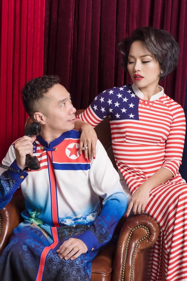 NTK Đỗ Trịnh Hoài Nam và ca sĩ Thái Thuỳ Linh ăn ý trong BST áo dài đặc biệt - 1