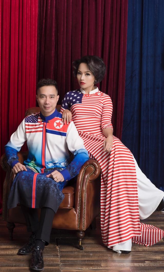 NTK Đỗ Trịnh Hoài Nam và ca sĩ Thái Thuỳ Linh ăn ý trong BST áo dài đặc biệt - 4