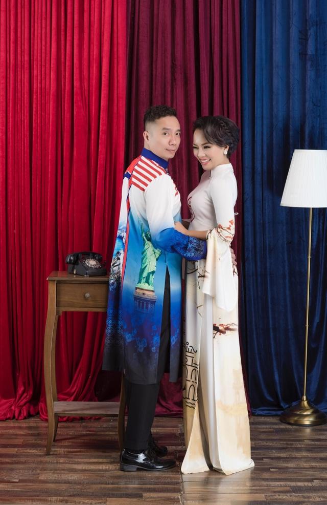 NTK Đỗ Trịnh Hoài Nam và ca sĩ Thái Thuỳ Linh ăn ý trong BST áo dài đặc biệt - 5