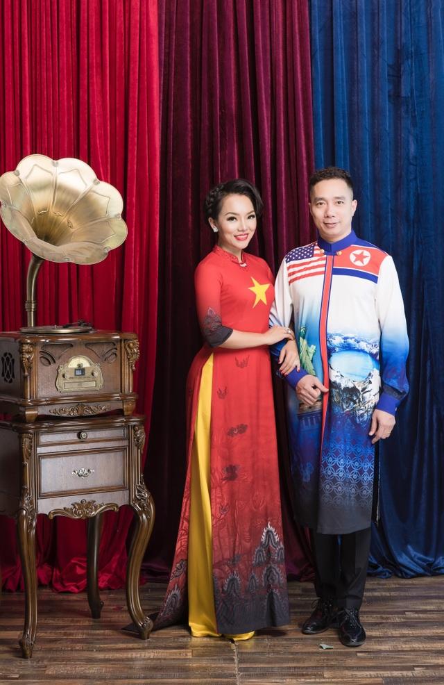 NTK Đỗ Trịnh Hoài Nam và ca sĩ Thái Thuỳ Linh ăn ý trong BST áo dài đặc biệt - 6