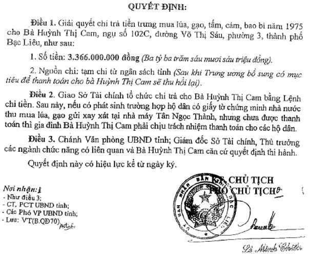 Cặp vợ chồng già đi đòi tiền mua lúa suốt 43 năm, Sở Tài chính Bạc Liêu nói gì? - 2