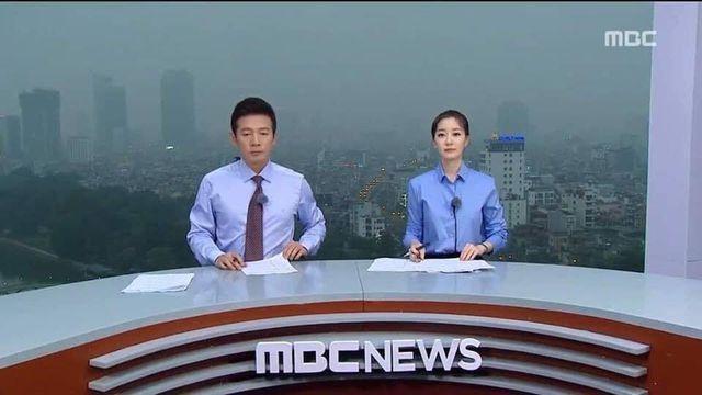 Truyền hình Hàn Quốc dựng trường quay trên nóc nhà cao tầng đưa tin thượng đỉnh Mỹ - Triều - 1