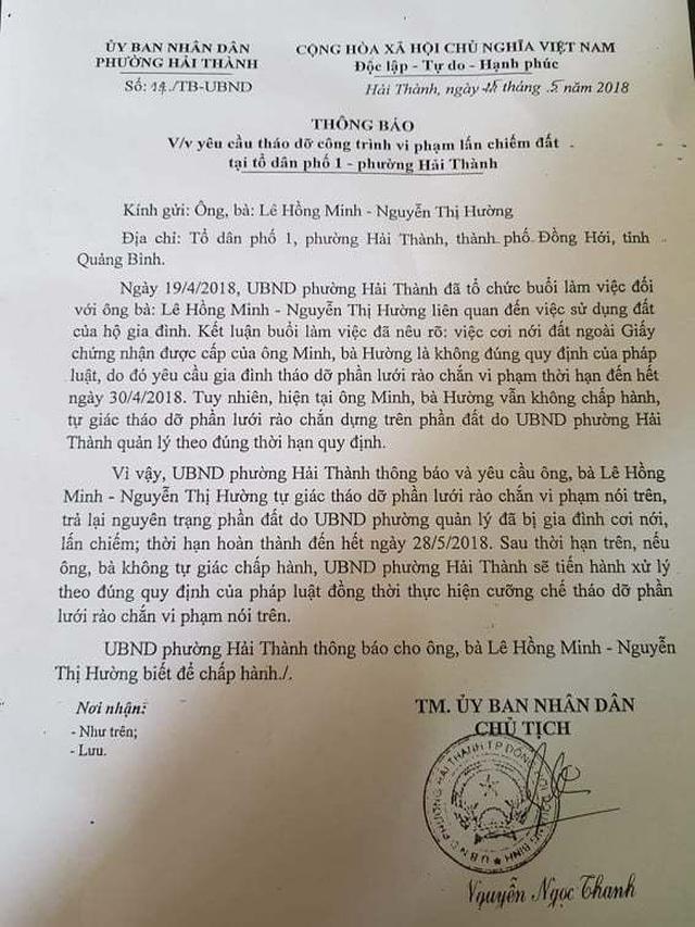 Quảng Bình: Người dân tố gia đình phó công an huyện ngang nhiên lấn chiếm đất công  - 2