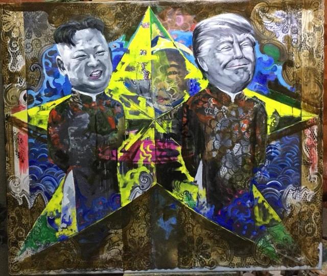 Chiêm ngưỡng tác phẩm hoạ sĩ Việt vẽ chân dung nhà lãnh đạo Mỹ - Triều Tiên - 6