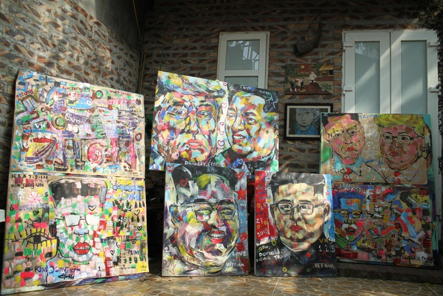 Chiêm ngưỡng tác phẩm hoạ sĩ Việt vẽ chân dung nhà lãnh đạo Mỹ - Triều Tiên - 4