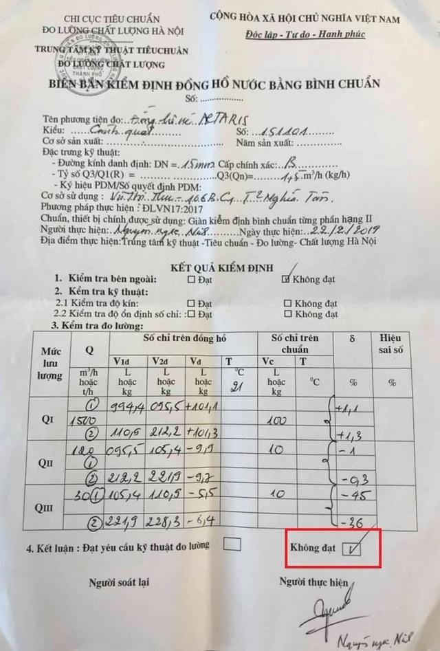 Vụ hóa đơn tiền nước 23,6 triệu đồng: Kết quả kiểm định đồng hồ đầy bất ngờ