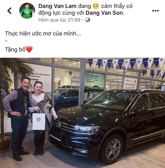 """Đặng Văn Lâm thỏa ước mơ, mua quà """"khủng"""" biếu bố mẹ"""