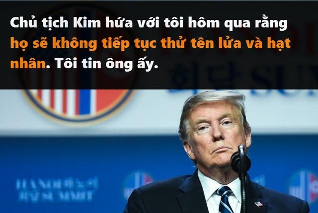 Những phát ngôn đáng chú ý của Tổng thống Trump tại thượng đỉnh ở Hà Nội - 10