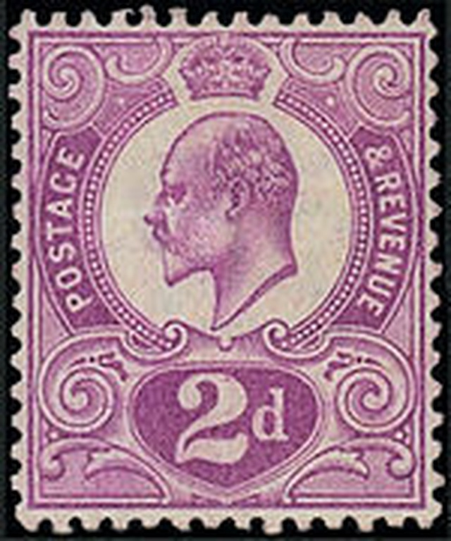 Con tem Tyrian Plum được phát hành dưới triều đại của vua Edward VII.