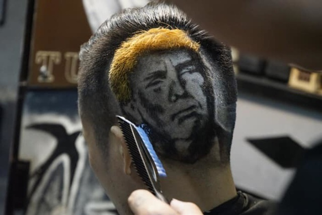 Chàng trai cắt tóc tạo hình Tổng thống Trump lên truyền hình ABC của Mỹ - 3